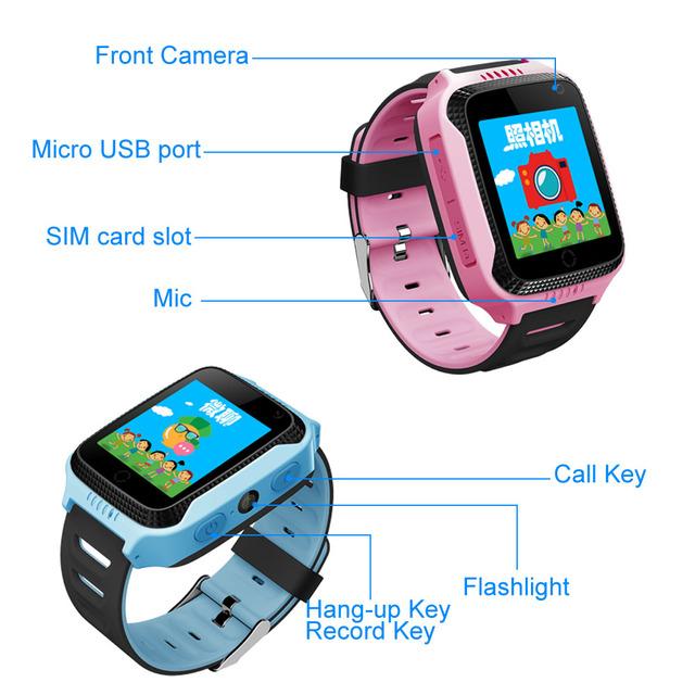 Q528 Y21 Touch Screen Kids GPS Watch with Camera Lighting Smart Watch Sleep Monitor GPS SOS Baby Watch PK Q50 Q750 Q100