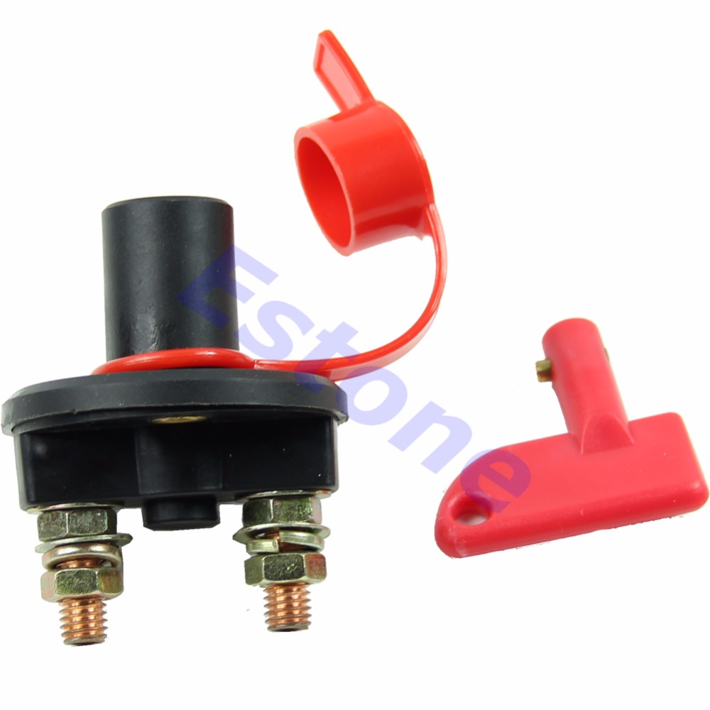 Car Battery Disconnect Master Kill Switch Cut Off Marine RV With Removable Key