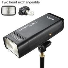 Godox AD200 200Ws 2.4G TTL Flash Strobe 1/8000 HSS Cordless Monolight with 2900mAh Lithimu Battery and Bare Bulb/Speedlite Flash