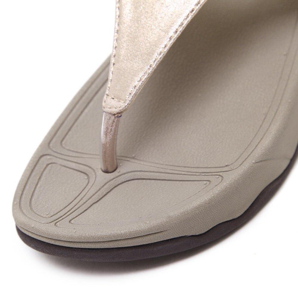 2019 Neuer Stil Yu Kube Sommer Schuhe Frau Sandalen Tanga Slides Flip-flops Alias Mujer 2019 Schiff O Keile Schuhe Für Frauen Plus Größe Frauen Sandalen Schuhe