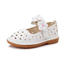 White Pink 2019New Baby Girls Shoes princess flower Kids shoes Soft sole chaussure fille 1 2 3 4 5 6 7 8 9 10 11-14T
