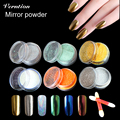 Saroline Профессиональный DIY Ногтей Пигмент Блеск Металлик Chrome Зеркало Порошок Ногтей Комплект Искусство Набор Инструментов Аксессуары Моды Glow