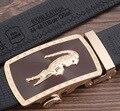 New Designer flash alligator buckle Automatic Buckle Cowhide Leather belt men designer belts mens belts luxury 110-130cm
