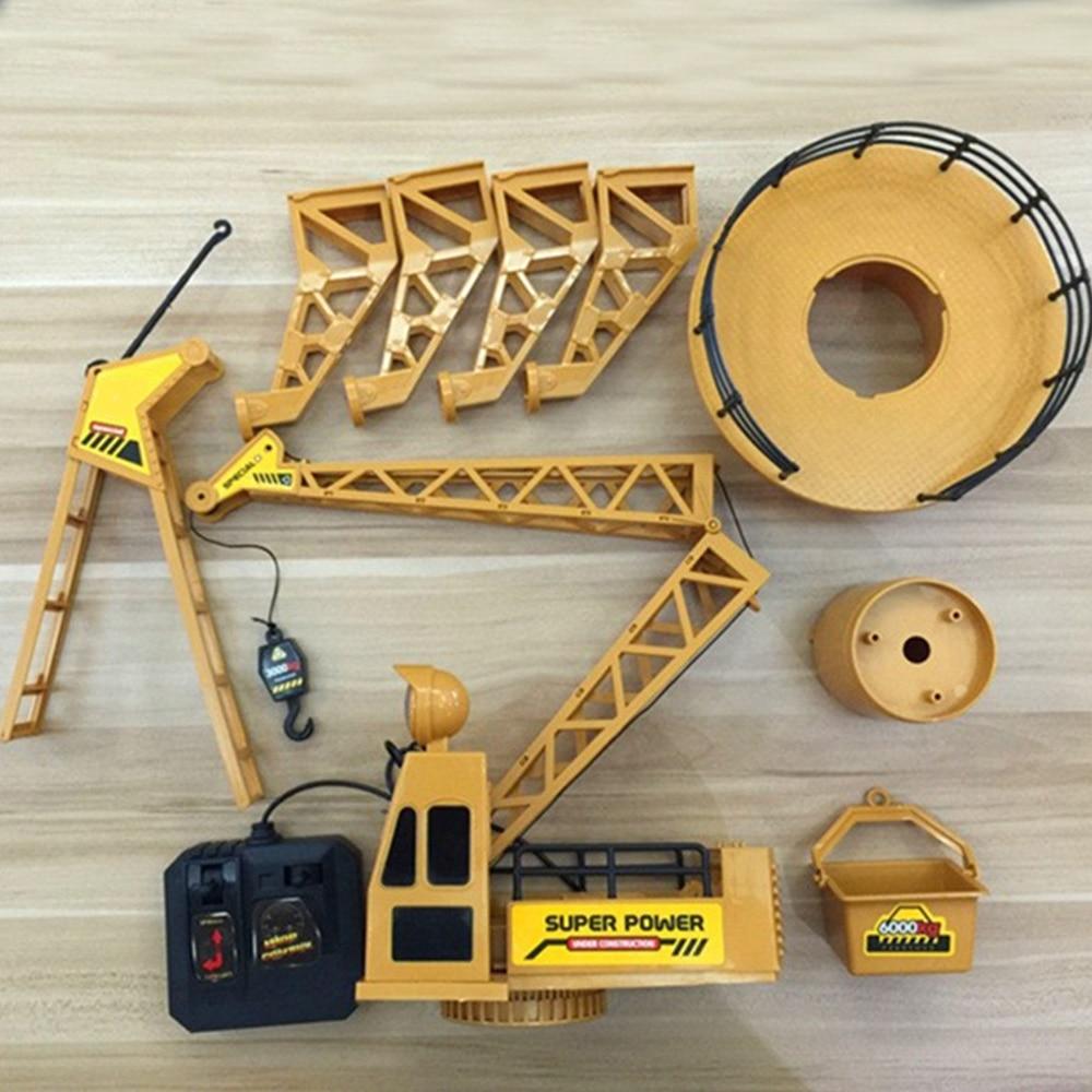 Сильный инженерный кран игрушка пластиковая желтая начинающая способность Упражнение кран