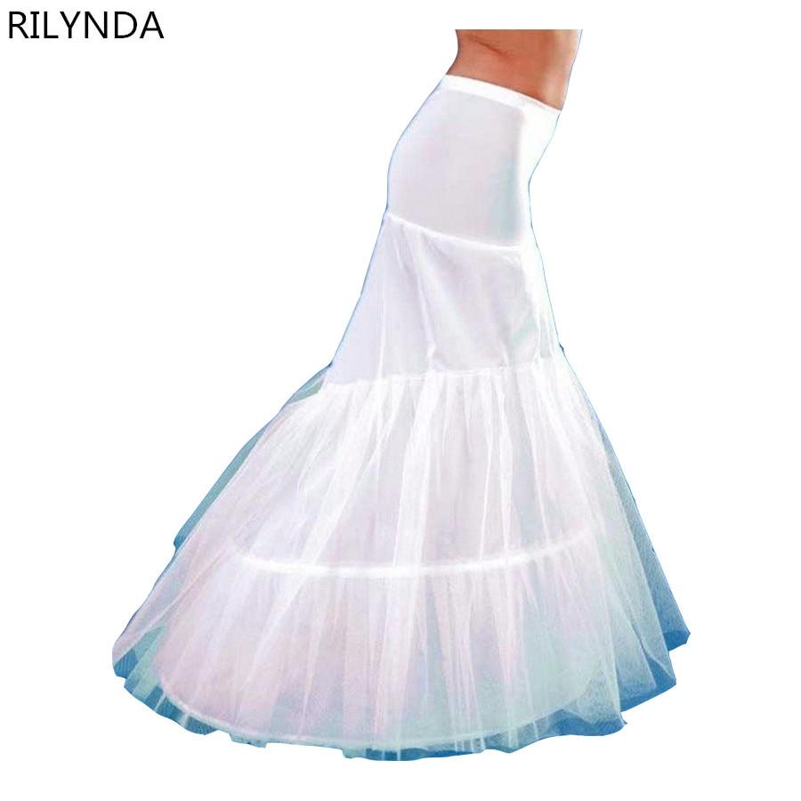 Mermaid Petticoat 2 Reifen Weißen Hochzeitskleid Krinoline AureMario ...