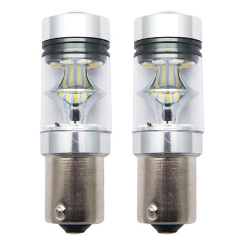 2Pcs 100W 1156 BA15S 382 P21W Cress XBD LED Stop Reverse Light Canbus Bulb White Car Accessories Turning Parking DRL Led Light