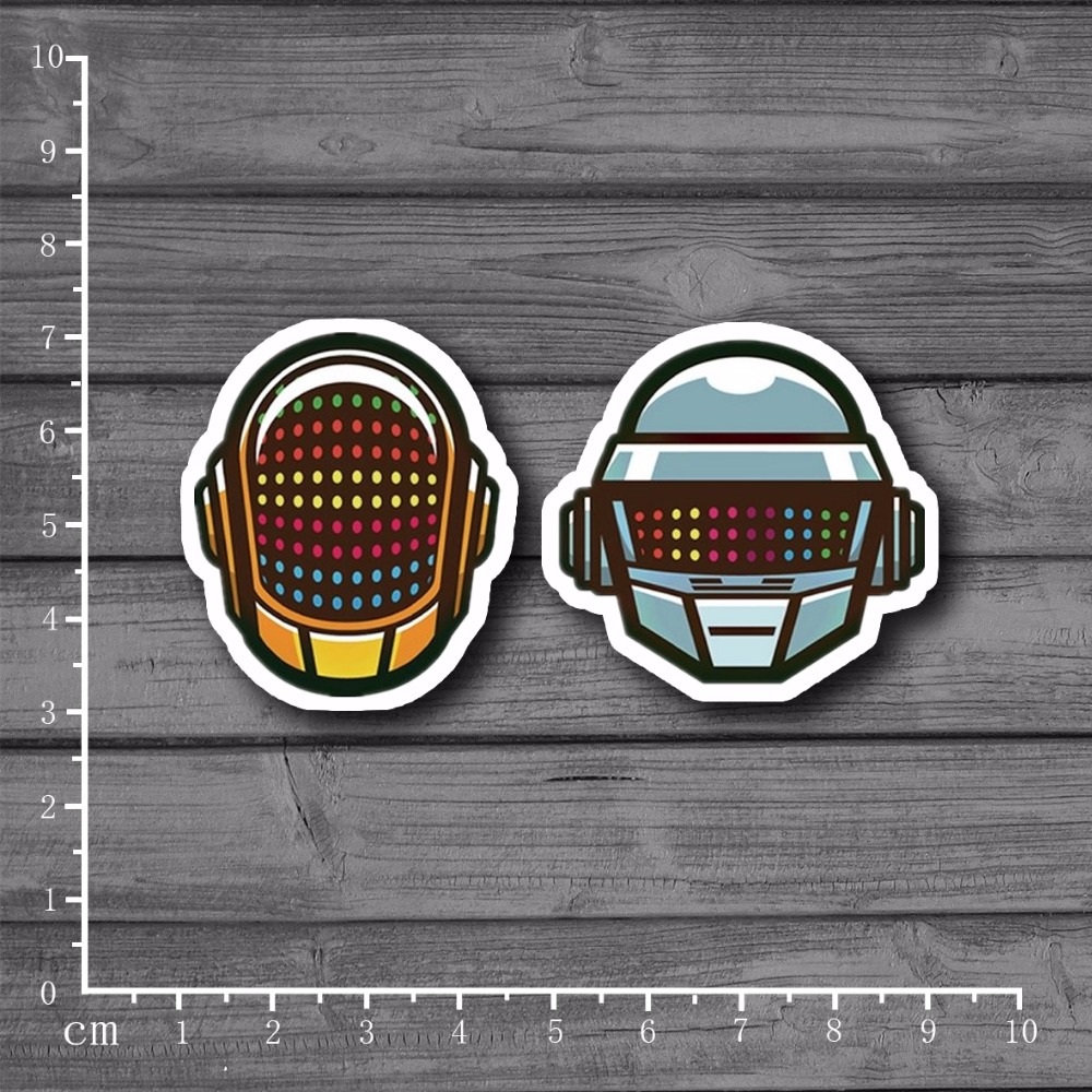 Daft Punk Cool Graffiti Scrapbooking Stationery Sticker Decor Decal For Ablum Diary Laptop Luggage Skateboard Suitcase[Single]