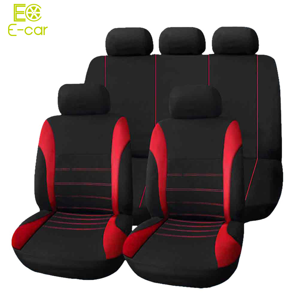 Neue Hochwertige Universal Auto Sitzbezug 9 Satz Volle Sitzbezüge für Frequenzweichen Limousinen Auto Interior Styling Dekoration Schützen