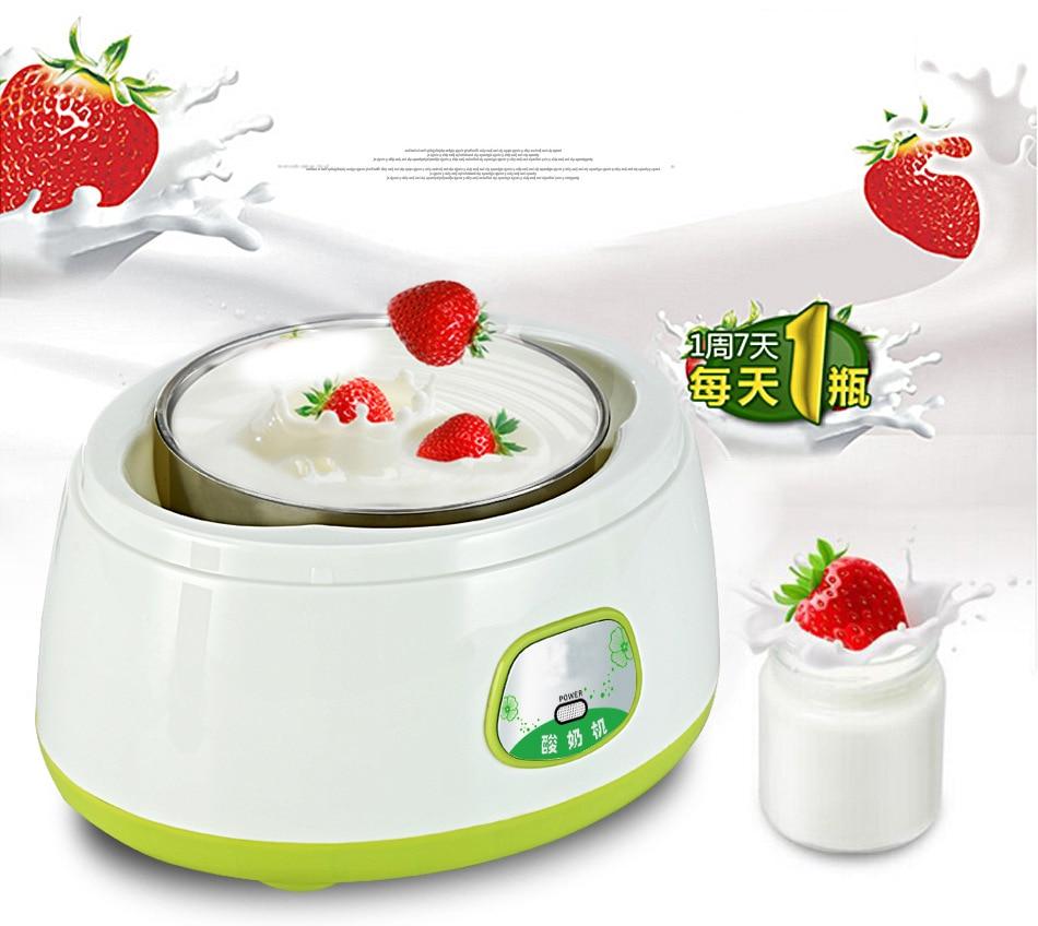 Stainless Steel Chamber 1000ML Capacity Yogurt Maker Yogurt Making Appliance Milk Insulation Machine Milk Fermentation Machine