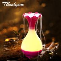 TBonlyone 95ML Mini USB Aroma Essential Oil Diffuser Ultrasonic Air Humidifier With 7 Color Changing LED