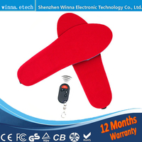 Electric Powered Heated Insoles For Shoes Boots Keeping Feet Warm Free Shipping For For The Woman