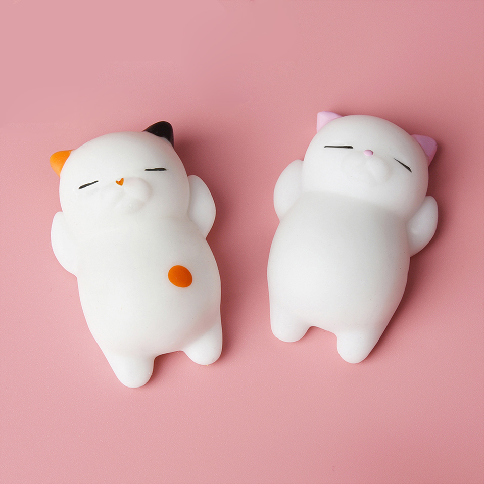 alangduo cat squishy slow rising cute soft press squeeze mini squishi toy phone straps stress