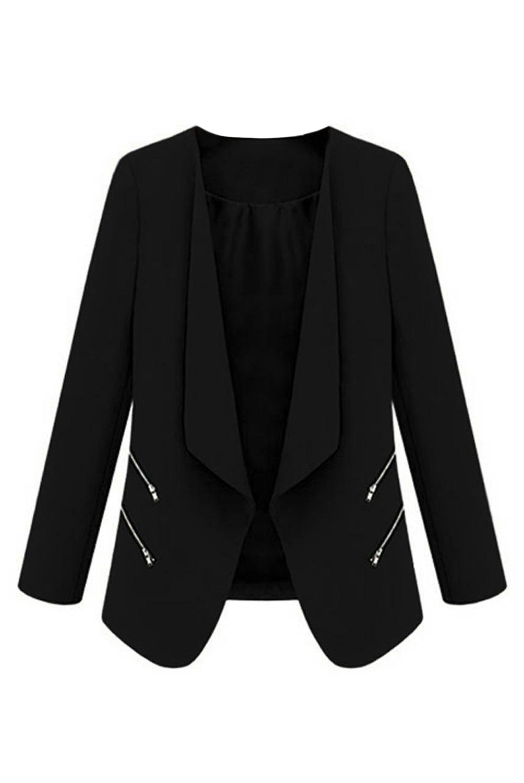 TFGS Vintage Women Basic Slim Suit Foldable Blazer Fit Jacket Cardigan Outwear