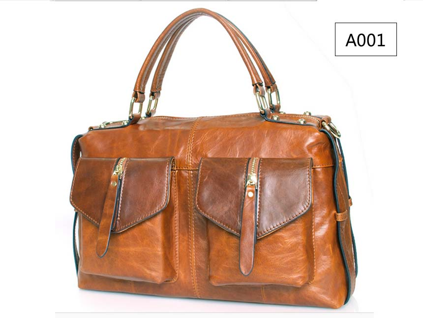 Luxury Women's Lady Genuine Leather Large Top Tote Hand bags