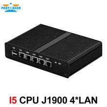 Причастником 4 ядра Intel J1900 с 4 LAN VGA Мини-ПК безвентиляторный Бесплатная доставка