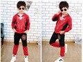 Горячие продажи падение детская одежда маска толстовки моды мальчик 4 т до 10 т паук костюм мальчиков толстовки