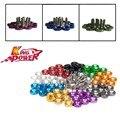 Kp-10 pcs 6mm fender anilhas com parafusos para honda civic integra rsx ek-vermelho, preto, azul, roxo, prata, cinza, verde, orange, ouro