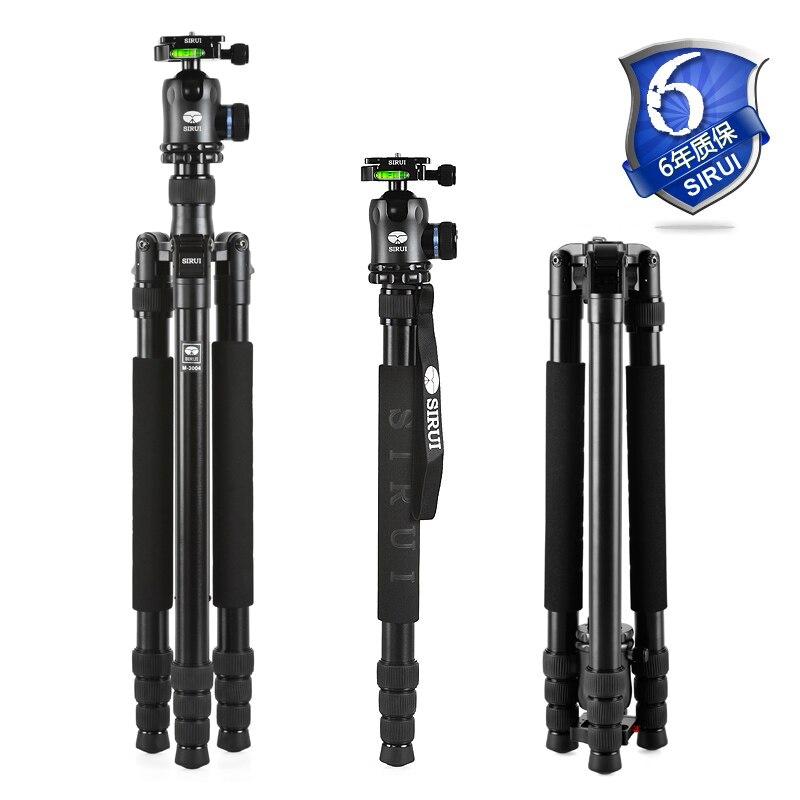 Sirui Камера штатив + шаровой головкой Pro Складная Выдвижная Unipod комплект Alu стойка для цифровой Камера s Go Pro Аксессуары n3004X + K30X