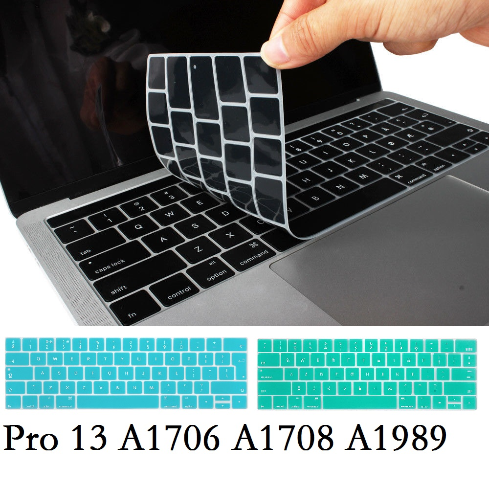 EU / US Silicon for Macbook Pro 13 2018 2017 Keyboard Cover Silicon A1706 A1708 A1989 English for Macbook Pro 13 Keyboard Film image