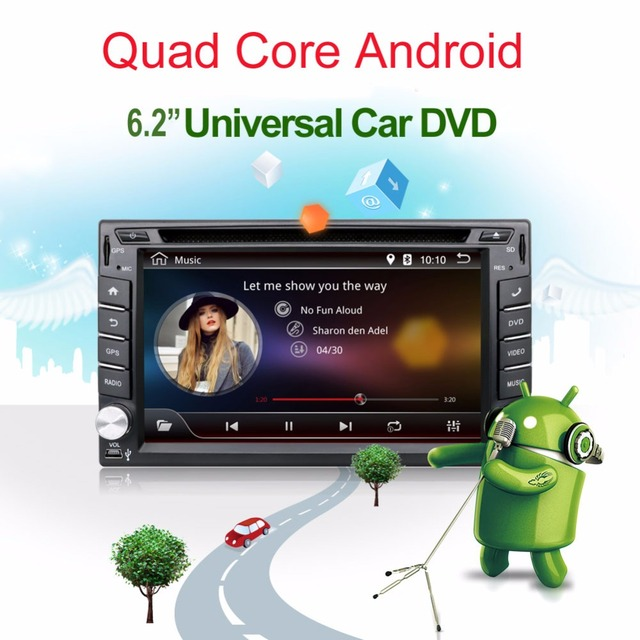 Автомобиль Электронные авторадио 2din android 4.4 dvd-плеер автомобиля стерео GPS Навигация Quad Core WI-FI + Bluetooth + Радио + 1.2 Г + 3 Г + TV Вариант