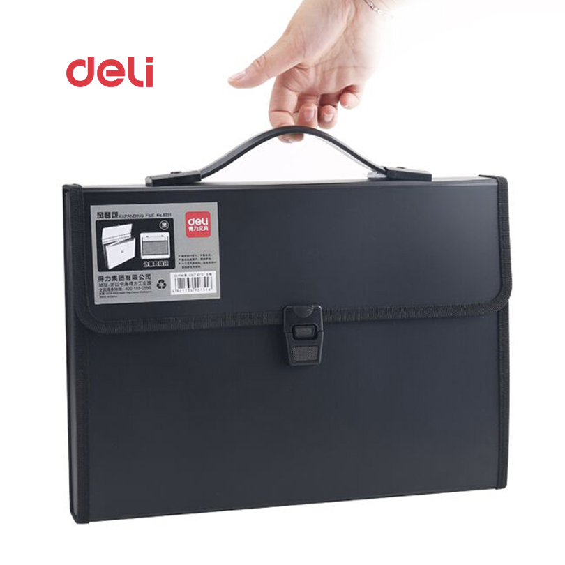 Deli Waterproof Book A4 Paper File Folder Bag business supplies Style Design Document Rectangle Office Home School folder deli canvas file folder document bag business briefcase a4 paper storage organizer bag stationery school office supplies student