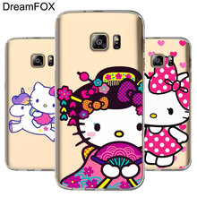 e780ac434a5 DREAMFOX M085 lindo Hello Kitty TPU suave funda de silicona para Samsung  Galaxy nota S 3 4 5 5 5 6 6 7 8 9 Edge Plus Grand Prime