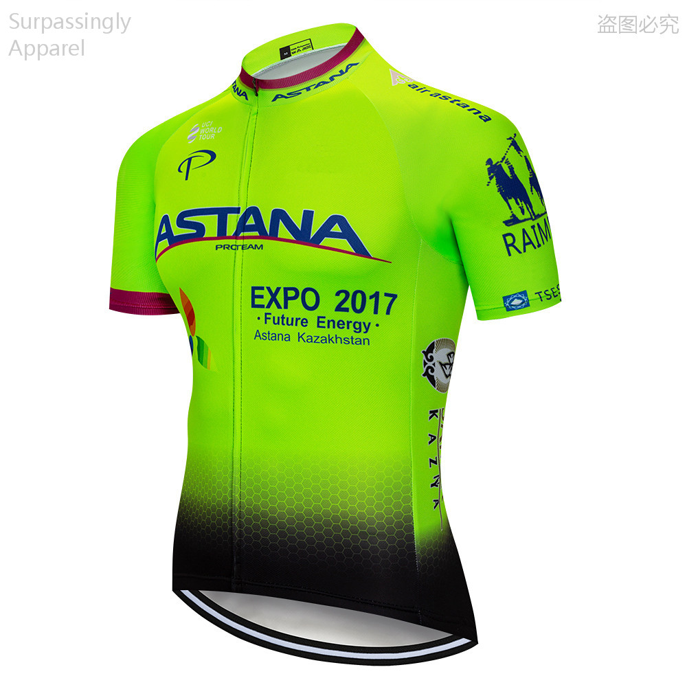 Males Summer time Fluo ASTANA Biking Jersey 2019 Professional Crew Quick Sleeve Bike Biking Garments Ropa Ciclismo Biking Clothes Sports activities Biking Jerseys, Low-cost Biking Jerseys, Males Summer time...