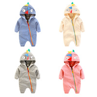 2019 New Fashion Animal Style Baby Romper Autumn Winter Hooded Infant Warm Jumpsuit Cute Baby Cloth