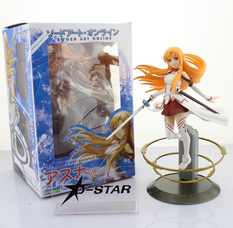 Free Shipping 9 Sword Art Online S.A.O Anime Asuna Aincrad 2013 Ver. 1/8 Scale Boxed PVC Action Figure Collection Model Toy
