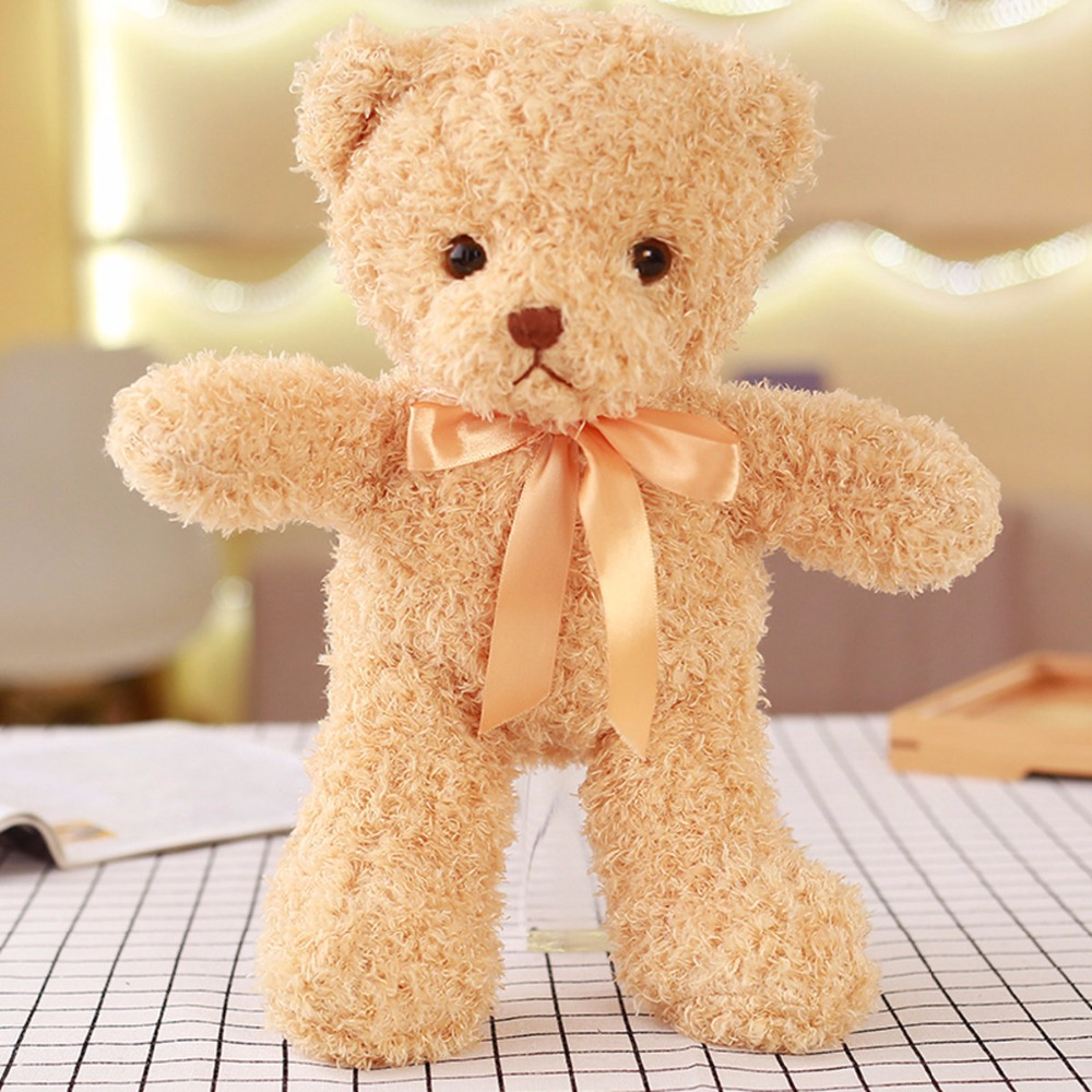 1pcs 30CM  Cute Kawaii  Bowtie Teddy Bear Fluffy and soft Plush Toy kids Dolls ; Stuffed Toy Wedding Gift Bouquet Decor Doll Toy stuffed animal 120 cm cute love rabbit plush toy pink or purple floral love rabbit soft doll gift w2226
