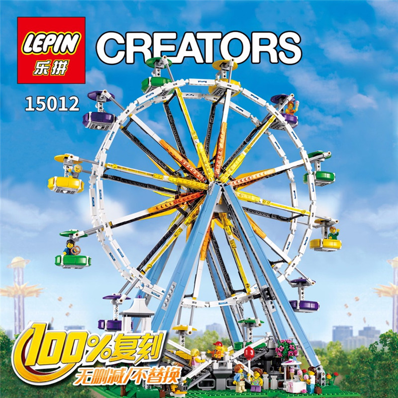 LEPIN 15012 2518 Pcs City Expert Ferris Wheel Model Building Kits Blocks Bricks Toys Compatible With 10247 birthday gifts a toy a dream lepin 15008 2462pcs city street creator green grocer model building kits blocks bricks compatible 10185