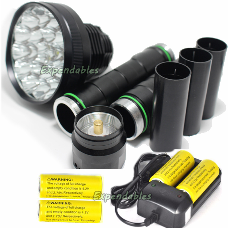 38000 lumens XM-24*T6 LED High power Glare flashlight Torch Working lamp floodlight  5 Modes camping lantern +battery+charger 3800 lumens cree xm l t6 5 modes led tactical flashlight torch waterproof lamp torch hunting flash light lantern for camping z93
