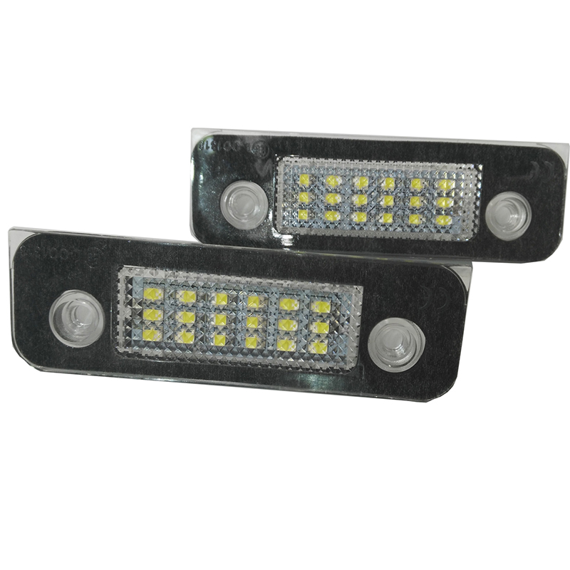 2pcs white18LED License Plate Light Lamps For Ford Fusion Fiesta Mondeo цена 2017