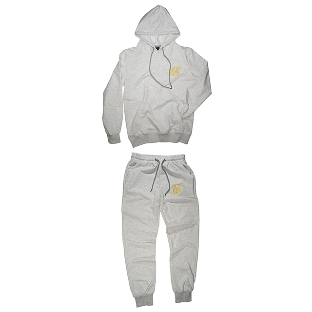 New Gyms tracksuit men pants Sets Fashion Sweatshirt sweat suits brand Sik Silk embroidery casual fitness Outwear jogger set 5
