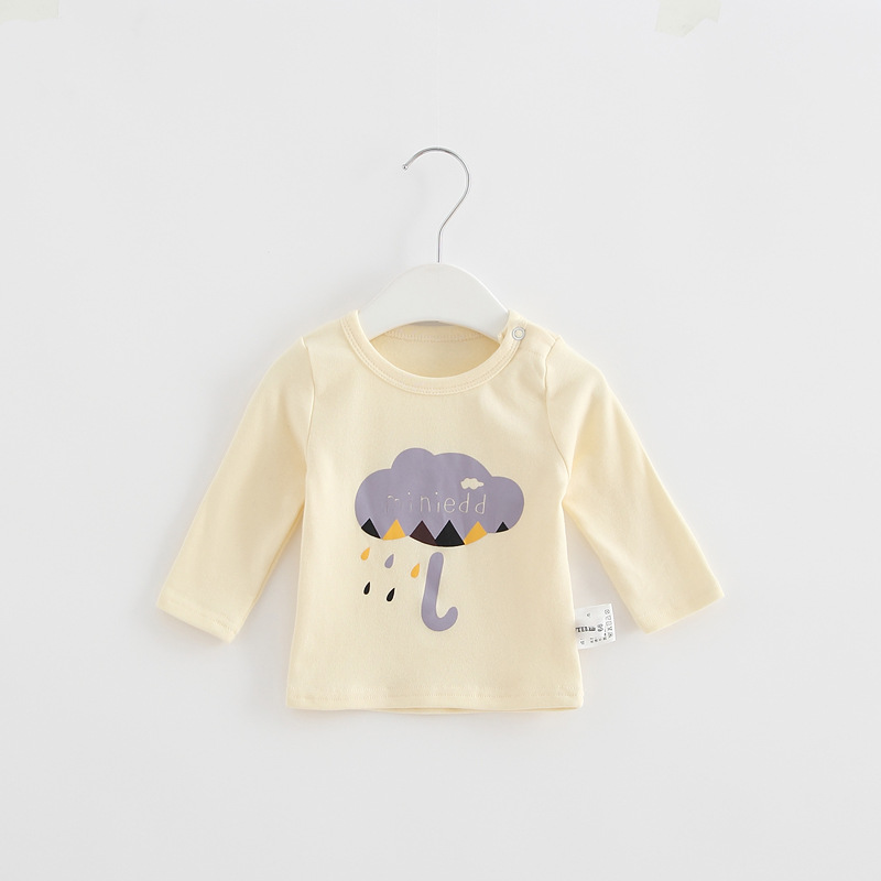 2017 Toddler Kids Baby Boys Girls Infant spring Autumn Long Sleeve cartoon Fox T-Shirt Tops Clothing Cotton cloud rain T-Shirts (17)