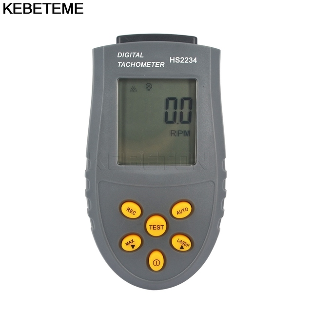 1pc Rotational Speed Meter Laser Tachometer Digital Photo LCD RPM Test Small Engine Motor Non-contact Measuring Instrument