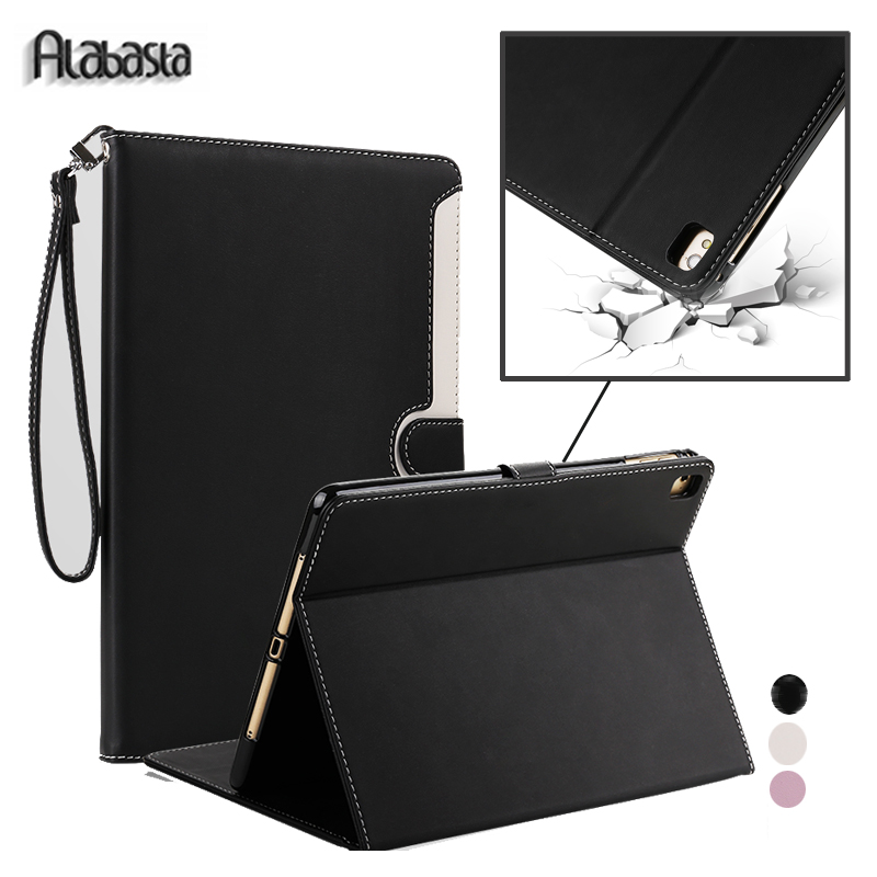 Case for New protector iPad 2017 9.7 Alabasta Business PU Leather skin Smart Cover Stand Case for iPad 2017 Shell model A1822 alabasta cover case for apple ipad air1