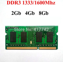 Laptop memoria ram ddr3 8 gb 4 Gb 2 Gb de MEMORIA RAM de 8 Gb DDR3 1600 1333 Mhz/ddr 3 2G 4G 8G-garantía de por vida-bueno calidad