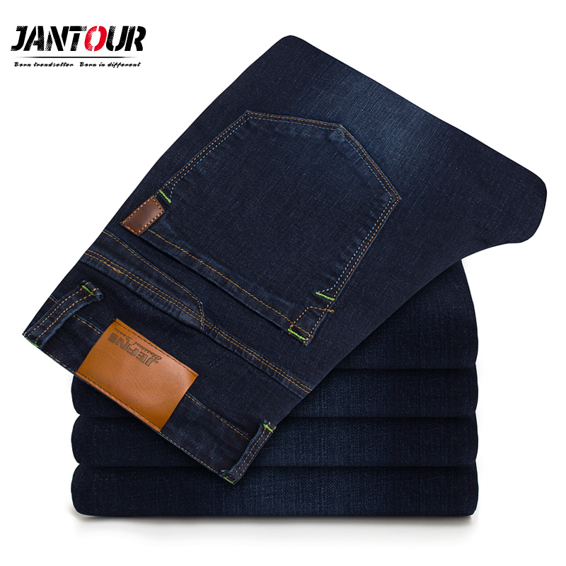 Men'S Classic   Jeans   Brand Large Size Straight Homme   Jean   Slim Distressed Design Biker Pants Fit Cheap Blue Regular 35 40 42 size
