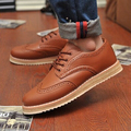 2016 Marinha Do Vintage de Couro dos homens Flats Oxfords Shoes Creeper Plataforma Inverno Sapatos Casuais para Homens Tamanho Pelúcia 39-47 p1c147