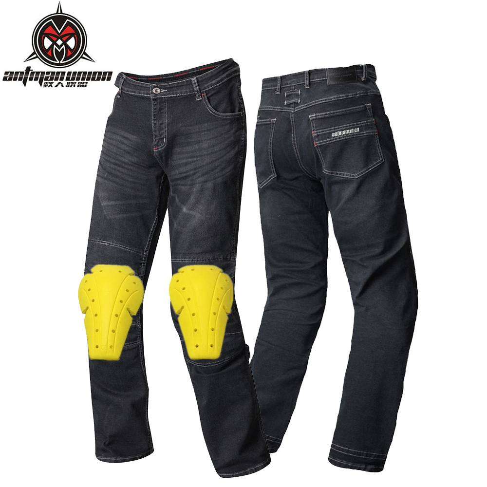 Demin Motorcycle Pants Men Moto Motocross Pants Enduro Riding Trousers Motocross Off-Road Racing Sports Knee Protective Trousers rock biker men cotton retro denim jeans motorcycle moto racing pants pantaloni motocross motorcycle enduro riding trousers