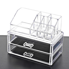 Acrylic transparent Makeup Organizer Storage Boxes Make Cosmetics Brush home Drawers Cotton Stick organizers