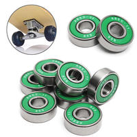 8Pcs 608 ABEC 11 Skate Roller Inline Skating Scooter Bearing Green Shields Chrome Steel Bearings For