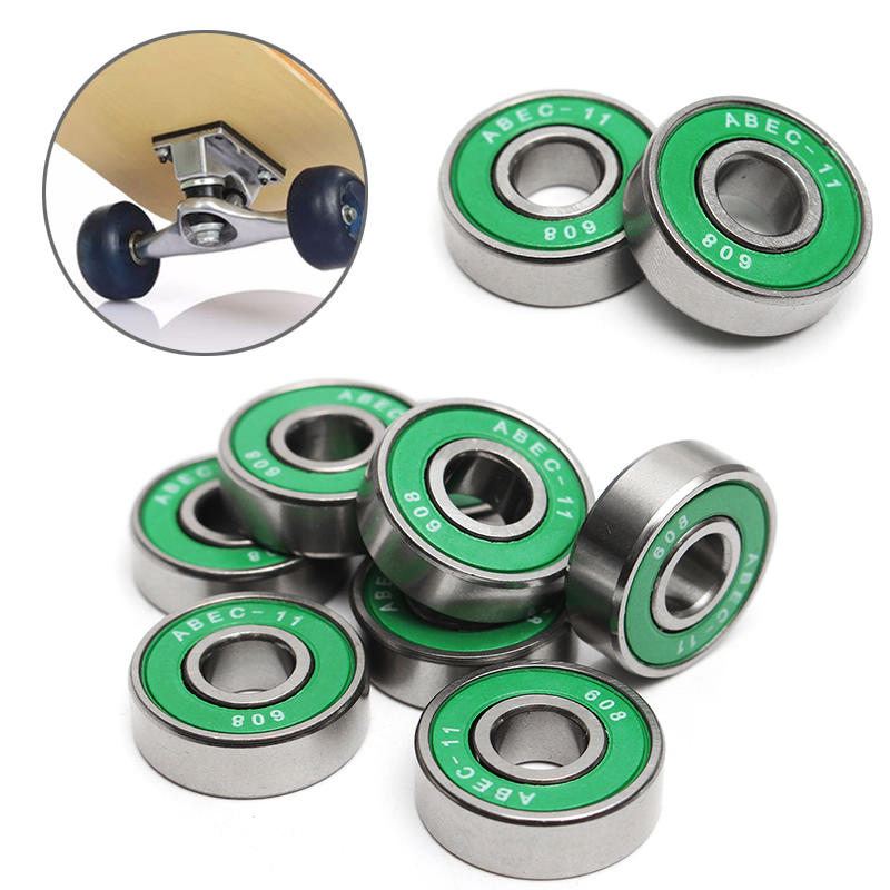 8Pcs 608 ABEC - 11 Skate Roller Inline Skating Scooter Bearing Shields Chrome Steel Bearings for Scooter Parts Random Color цена