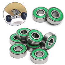8Pcs 608 ABEC - 11 Skate Roller Inline Skating Skooter Bearing Green Shields Chrome Steel Bearings Scooter Parts Accessories აქსესუარები