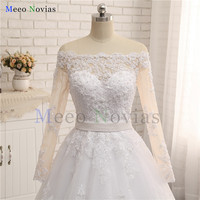 Cheap Long Sleeves Removable Belt A Line Lace Wedding Dress 2017 Alibaba China Custom Made Vestido