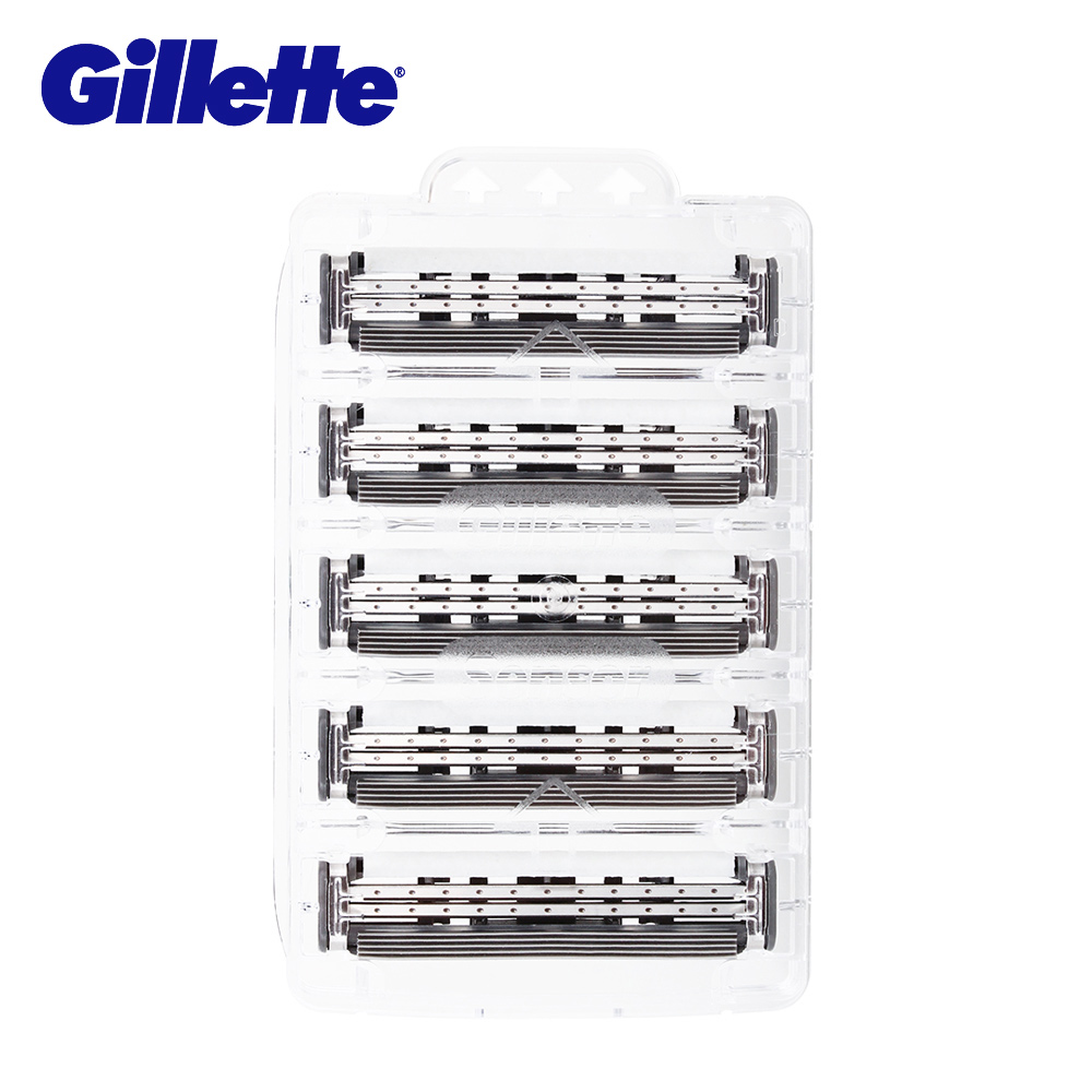 Gillette Sensor Excel Razor Blades 5pc/pack Shaving Replacement Razor Blades Shaver Heads For Men Double Edge Safety Razor 2