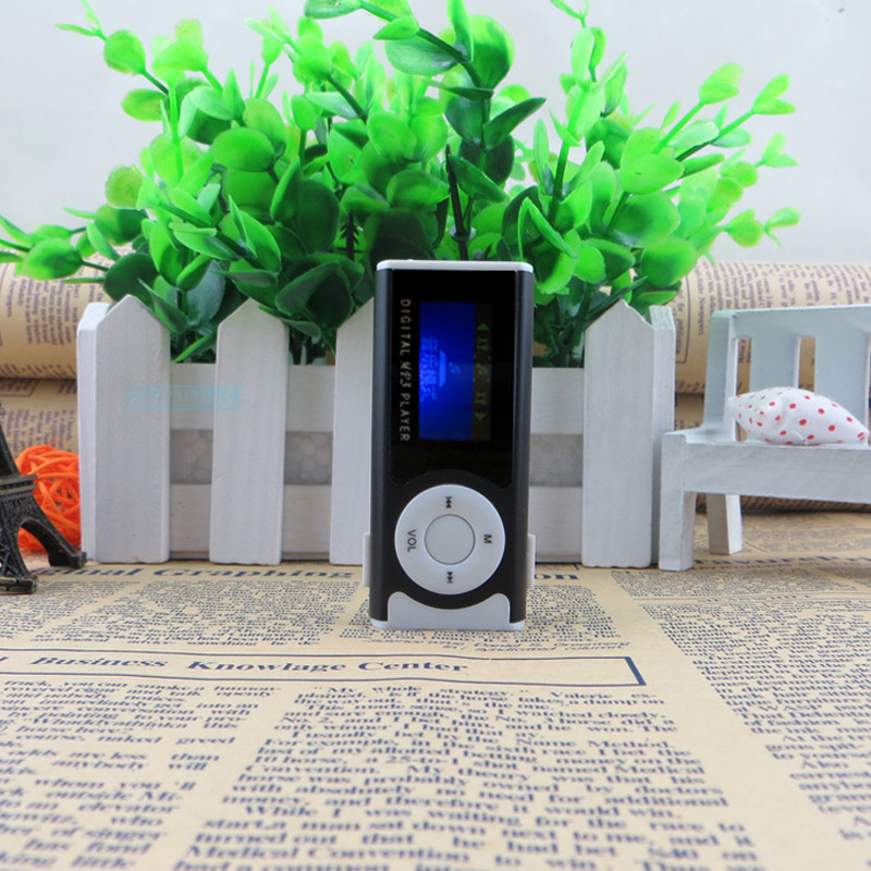 2018 New Shiny Mini USB Clip LCD Screen MP3 player Media Player Support 16GB externa Micro SD for MP3/WMA Compact and stylish