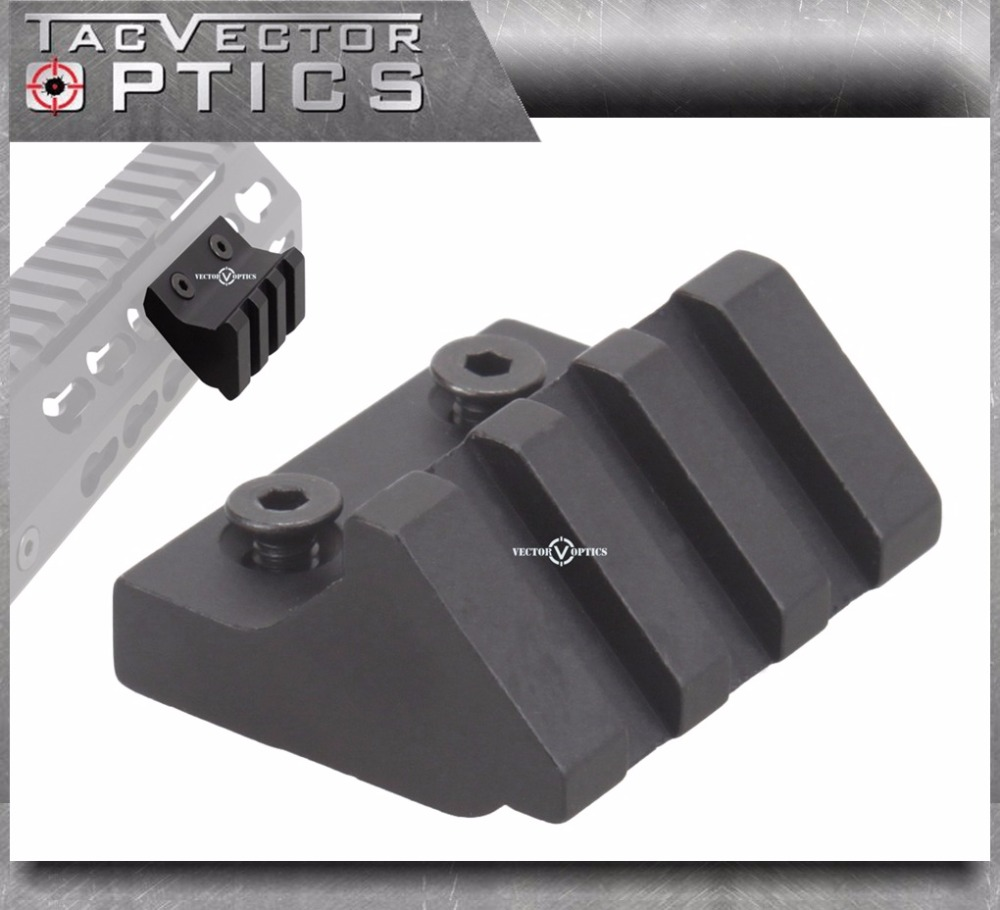 Vector Optics KeyMod Handguard Assessories 45 Degree Offset Picatinny Rail Mount 3 Slots ...