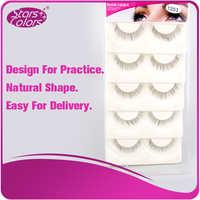 Natural Shape False Eyelash Strip Eyelash For leaner/beginner Practice 5 pairs/tray